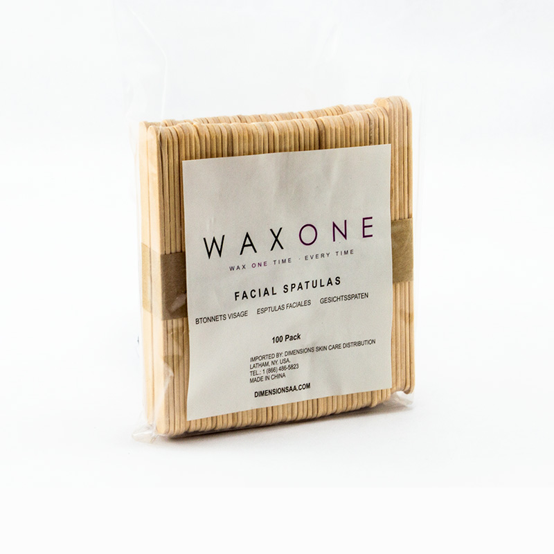 "WaxOne 4 5"" Wooden Spatulas 100 Pack"